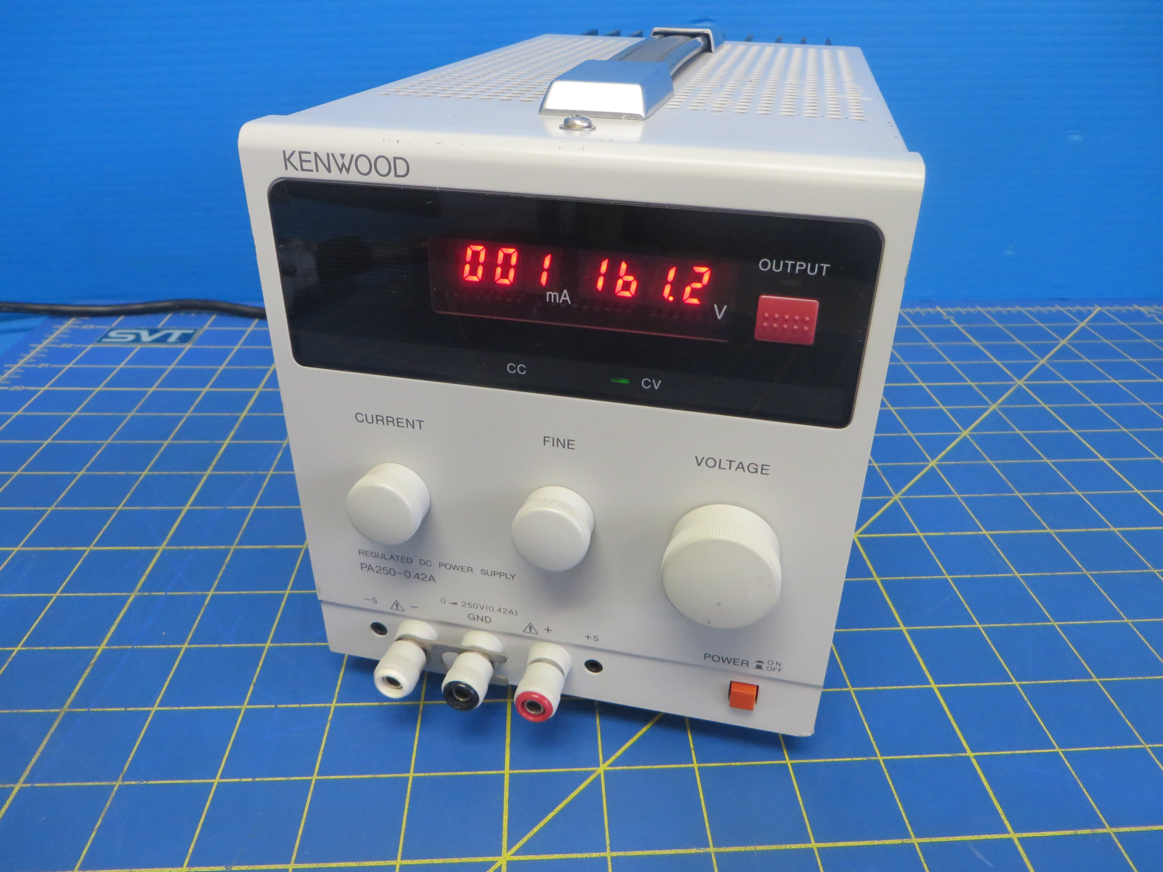Kenwood PA250-0.42A Adjustable DC Power Supply 0-250VDC 0.42A