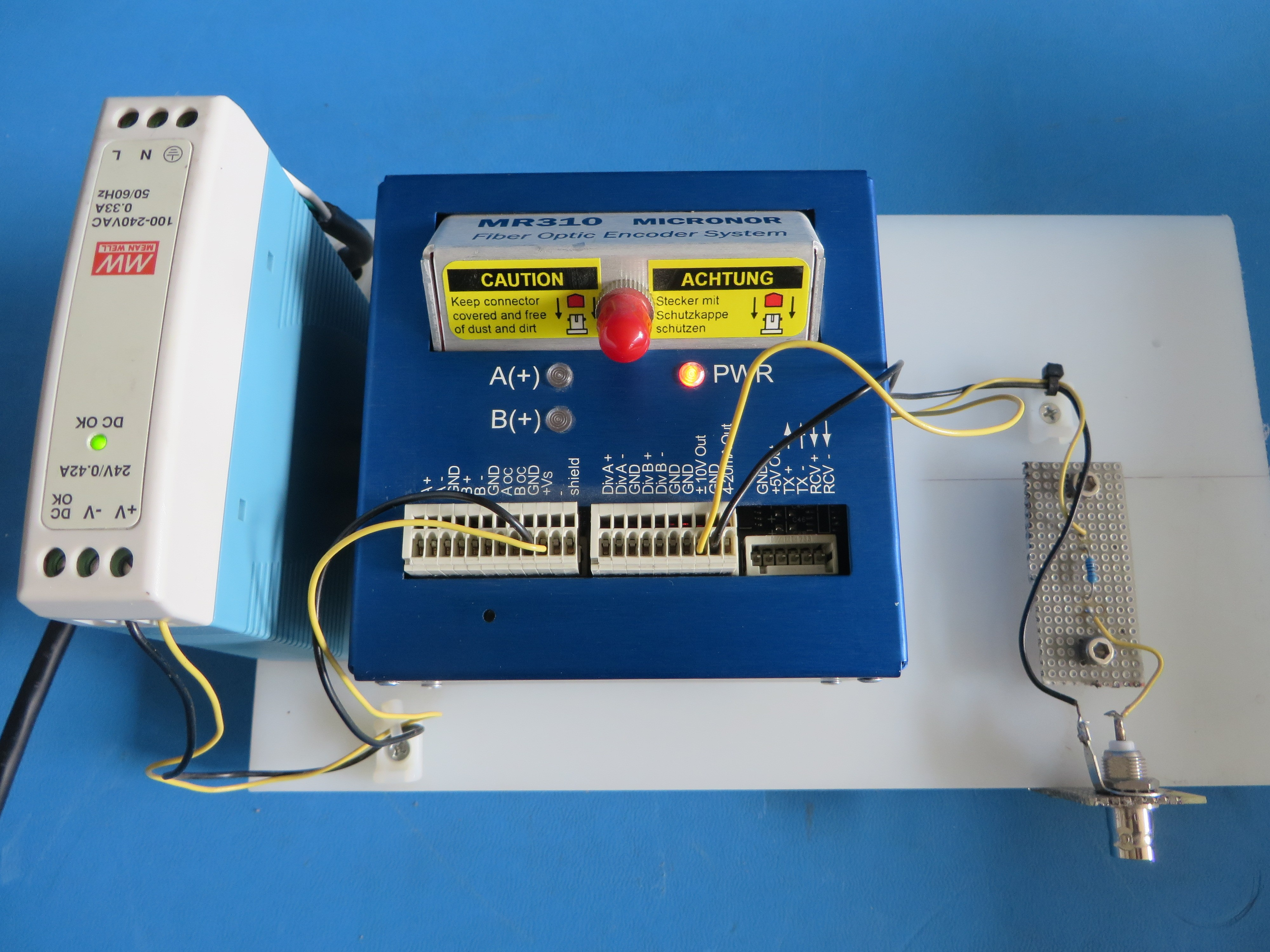 Micronor Mr310 Fiber Optic Encoder Controller Module W 24v Power Optics Integrated Circuits Images Of Supply