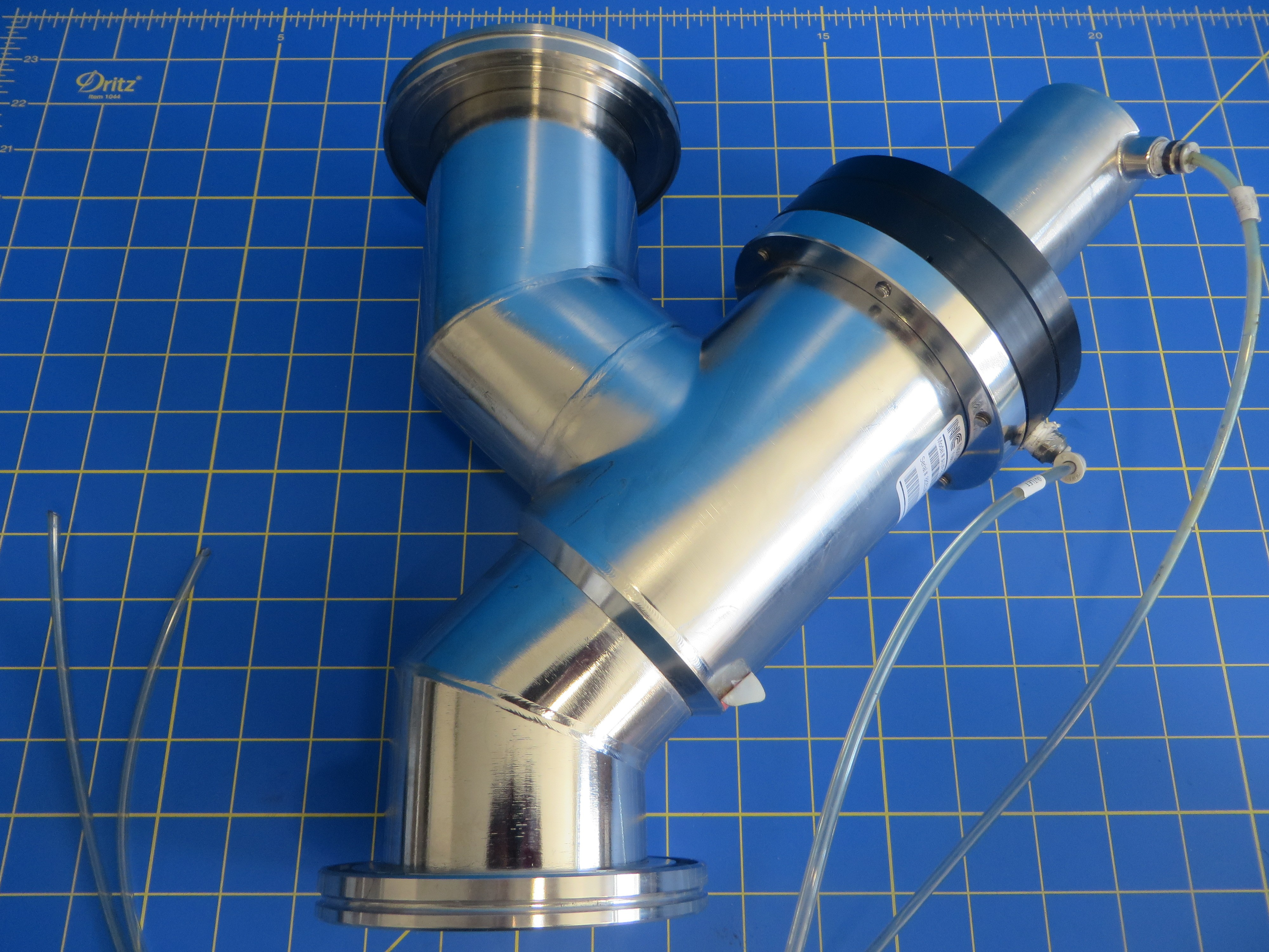 NorCal AIVP-3002-ISO Pneumatic FKM Seal Angle-In-Line Valve ISO-80-300-OF