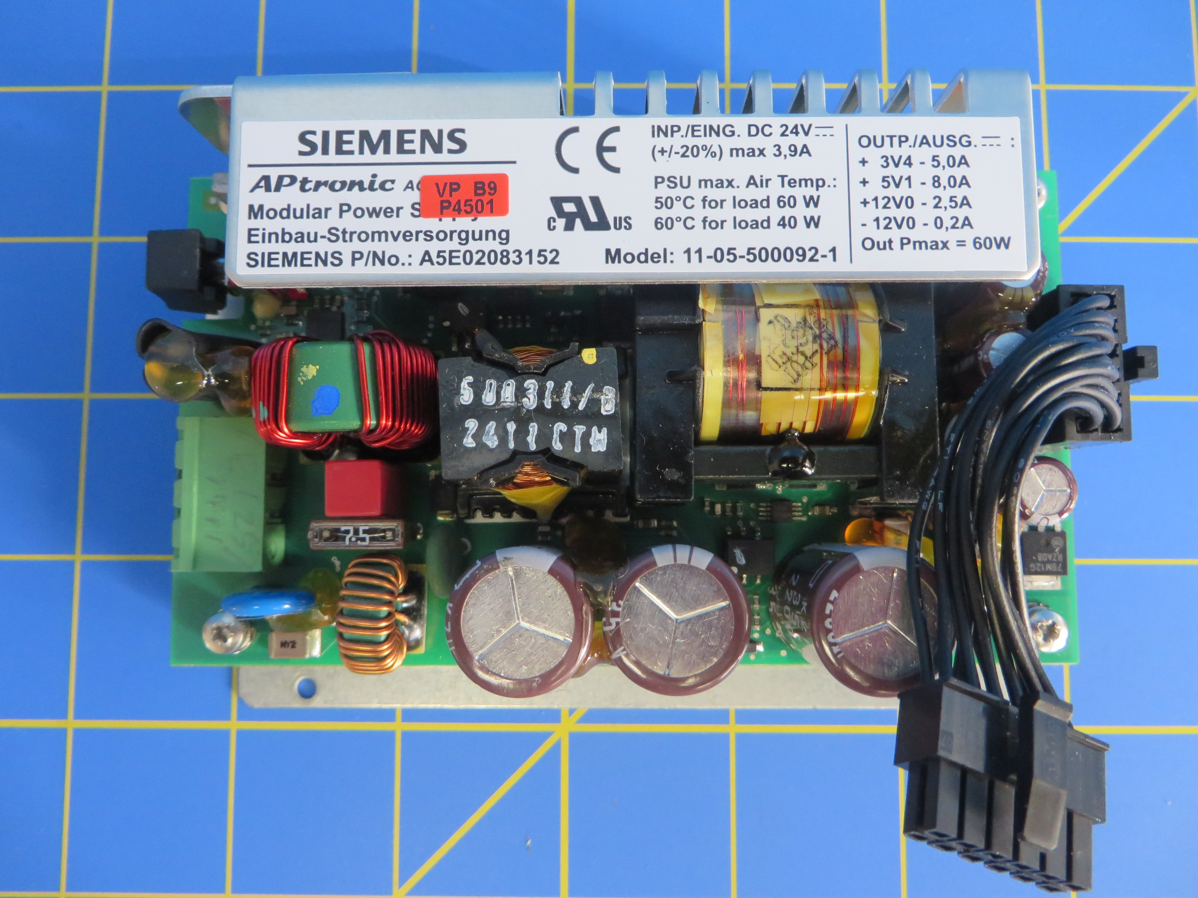 Siemens A5e02083152 Simatic Power Supply 24v 39a For Ipc427c Schematic Diagram Of 24vdc Images Ipc477c Pc 427b