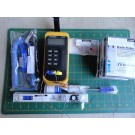 Omega HH12 Digital Thermometer w/ SMP-RT-T-125G-6 TMQSS-02OU-6 HYP5-21 Probes ++