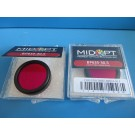 Midwest Optical BP635-30.5 Light Red Bandpass Filter - Lot of 2