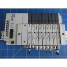 SMC EX140-SMJ1 24V CC-Link 16 I/O Interface w/ SQ1131Y-5-C4 SQ1131Y-5-C6 Valves
