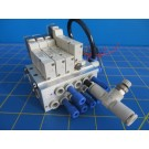 SMC Vacuum Assembly w/ 4 30-SY3140R-5HZ Solenoid Valves & Manifold